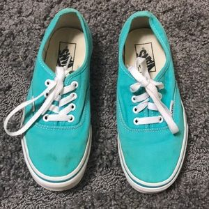 VANS Sneakers Size 6.5 Turquoise Great Condition